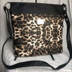 GRACE ADELE CORA Leopard animal print crossbody